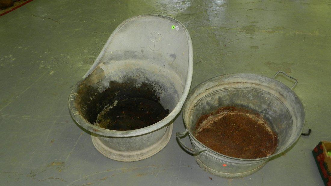 2 piece Primitive wash tubs SSR