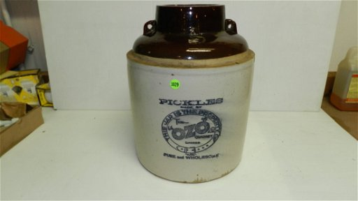 Primitive Pickles crock, by The Ozo Company / Western,