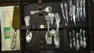 Outstanding Sterling silver flatware set, Reed & Barton