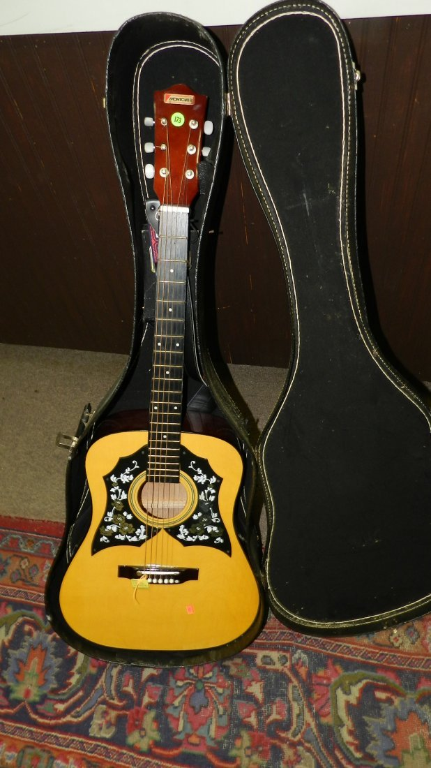 lovely Acoustic guitar by Montclair G 425, cond VG, no