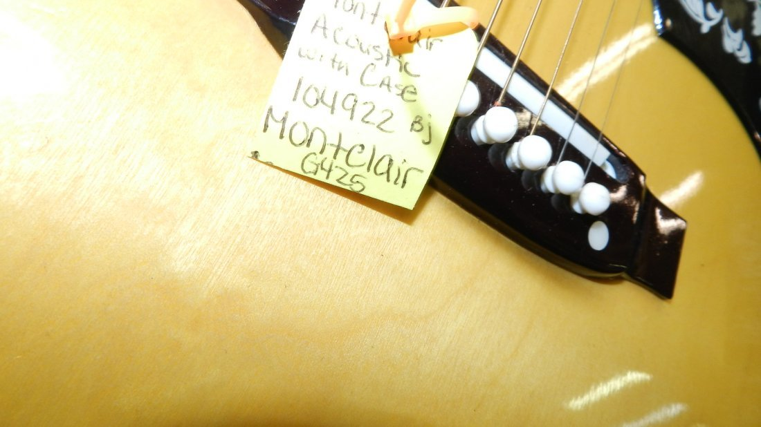 lovely Acoustic guitar by Montclair G 425, cond VG, no - 5