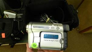 SONY Handycam camcorder with bag and accessories