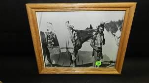 Original framed black and white vintage (1950's) photo