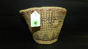 Original hand woven Native American basket, unique
