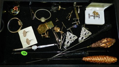 Wonderful tray of antique / vintage estate jewelry. No