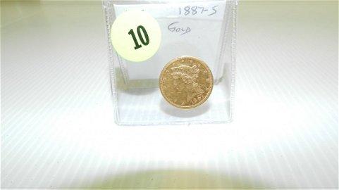 nice U.S. $5.00 (Five) dollar Liberty gold coin,