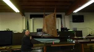 4 rare massive Pond Model Sailboat Boat Yacht Wood