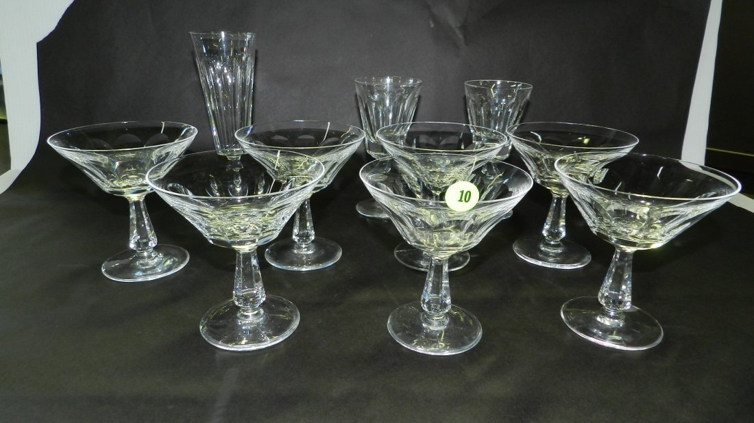 Beautiful, 10 piece, signed Waterford, crystal