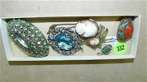 Lovely group of antique / vintage jewelry, including