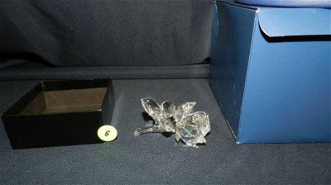 Authentic Austrian Swarovski crystal rose, with box,