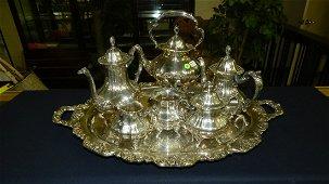 9) Wonderful, antique, heavy silver plated, Poole tea