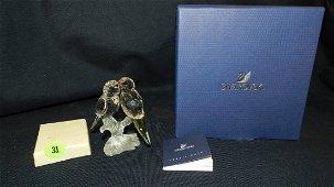 Authentic Austrian Swarovski crystal Love Birds, with