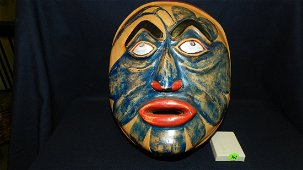 nice Native American hand carved and painted mask, with