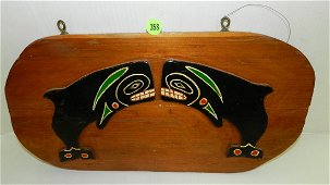 Vintage, hand carved and painted, Native American, dual