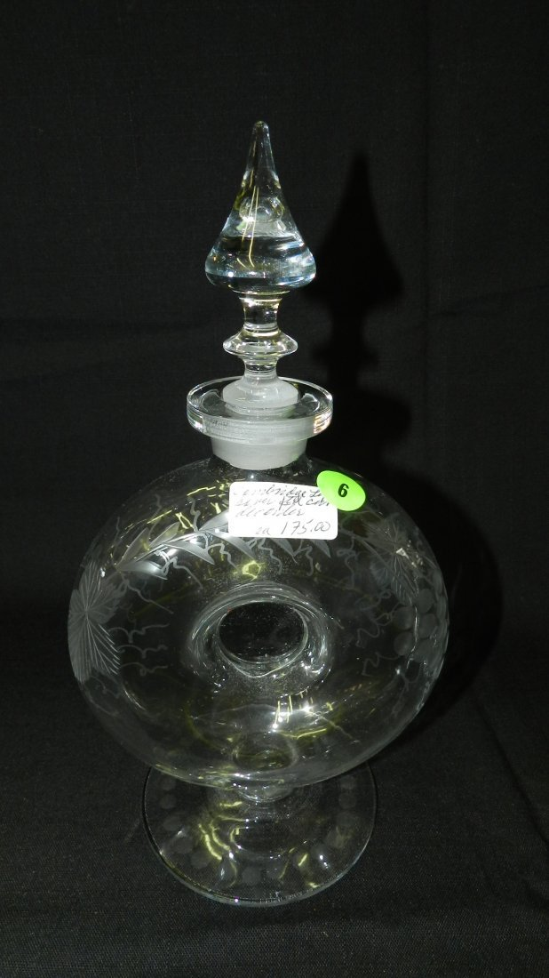 Antique, etched, grape pattern, circular design,