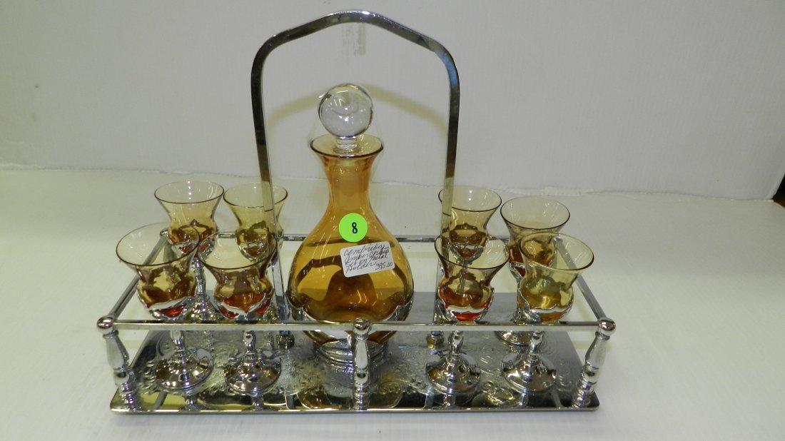 Lovely art deco Cambridge glass and Farber Bros. NY