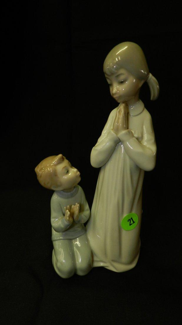 Lovely Lladro porcelain figurine, sister teaching