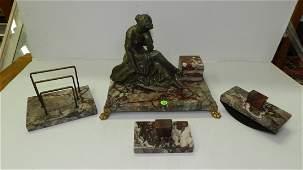 Wonderful Antique art deco cast metal and bronze