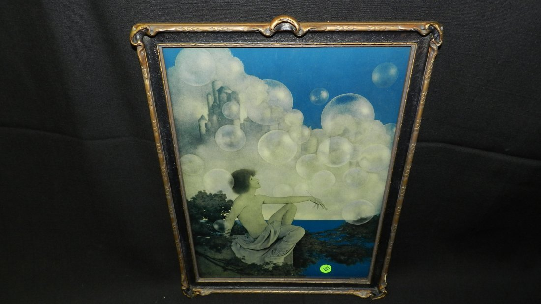 "Original Maxfield Parrish framed print titled ""Air"