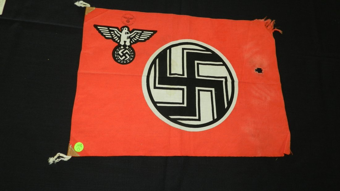Original WWII Natzi German flag, with eagle and