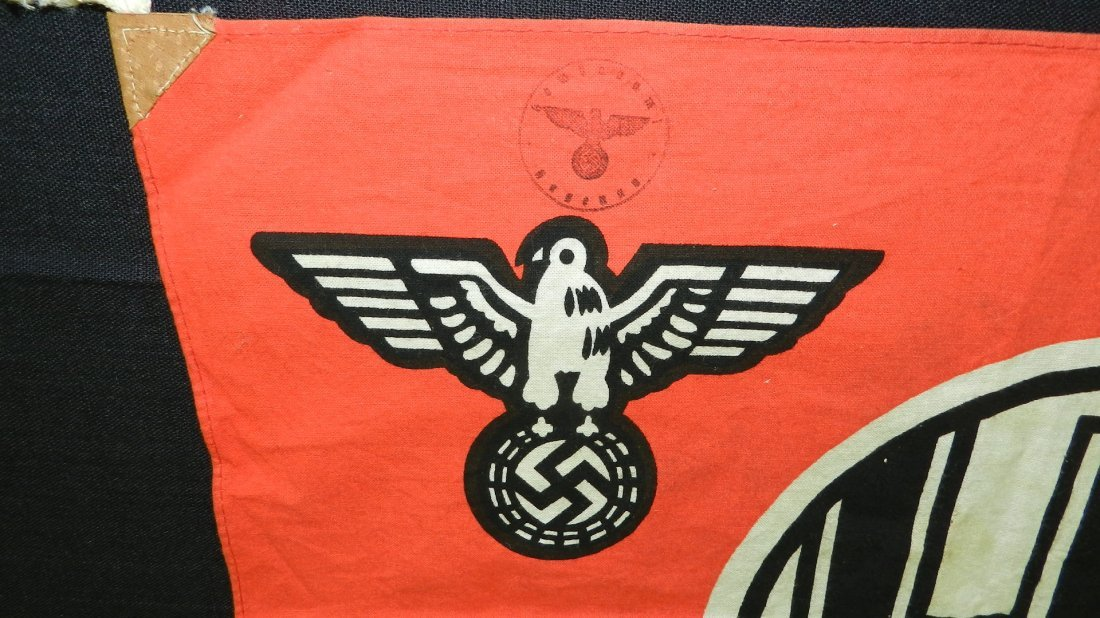 Original WWII Natzi German flag, with eagle and - 2