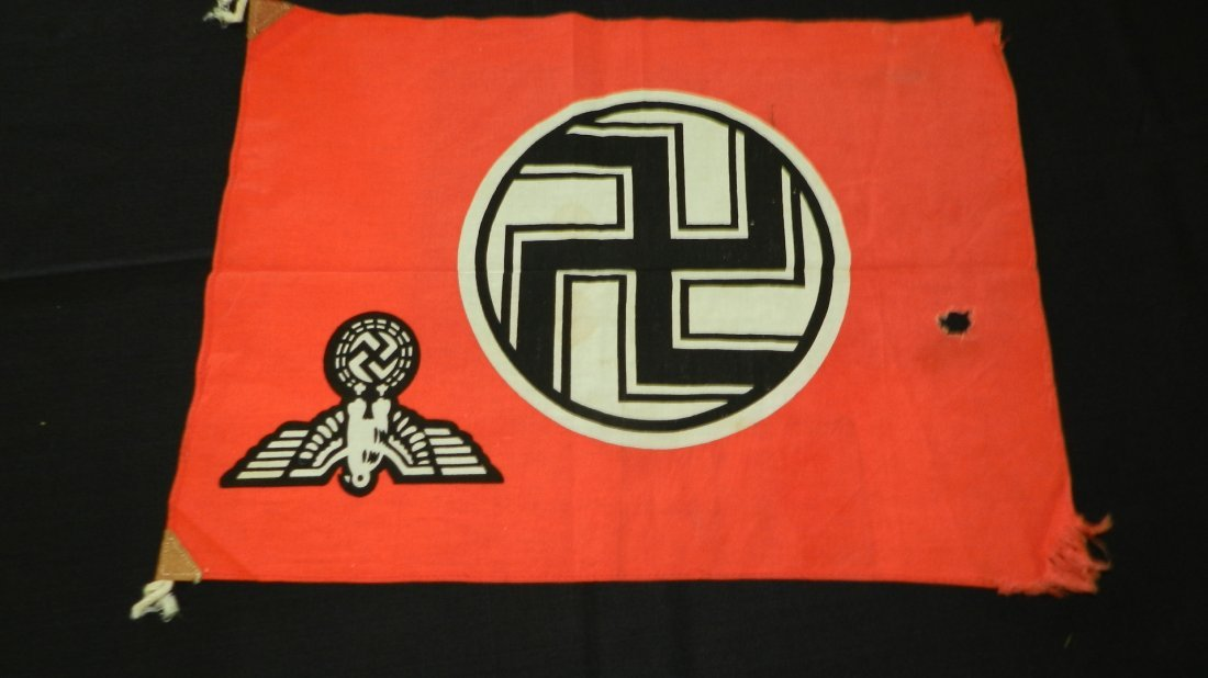 Original WWII Natzi German flag, with eagle and - 9