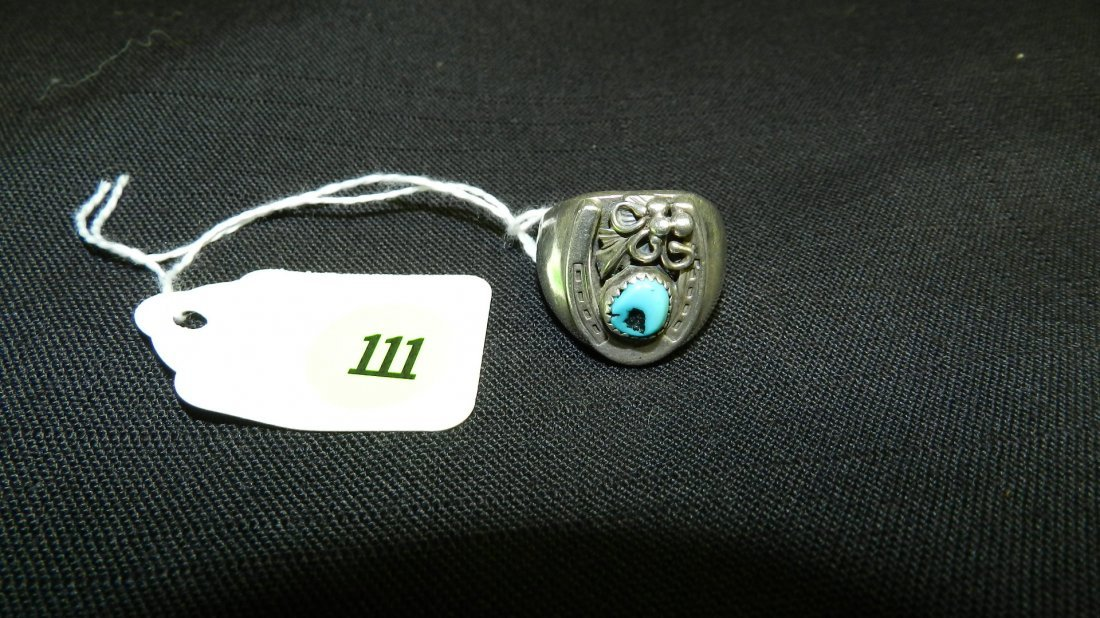 Nice Native American Sterling silver and turquoise
