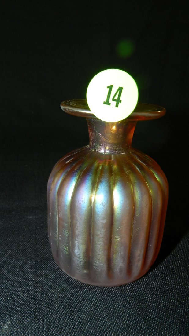 Lovely small art glass vase with nice Iridescence
