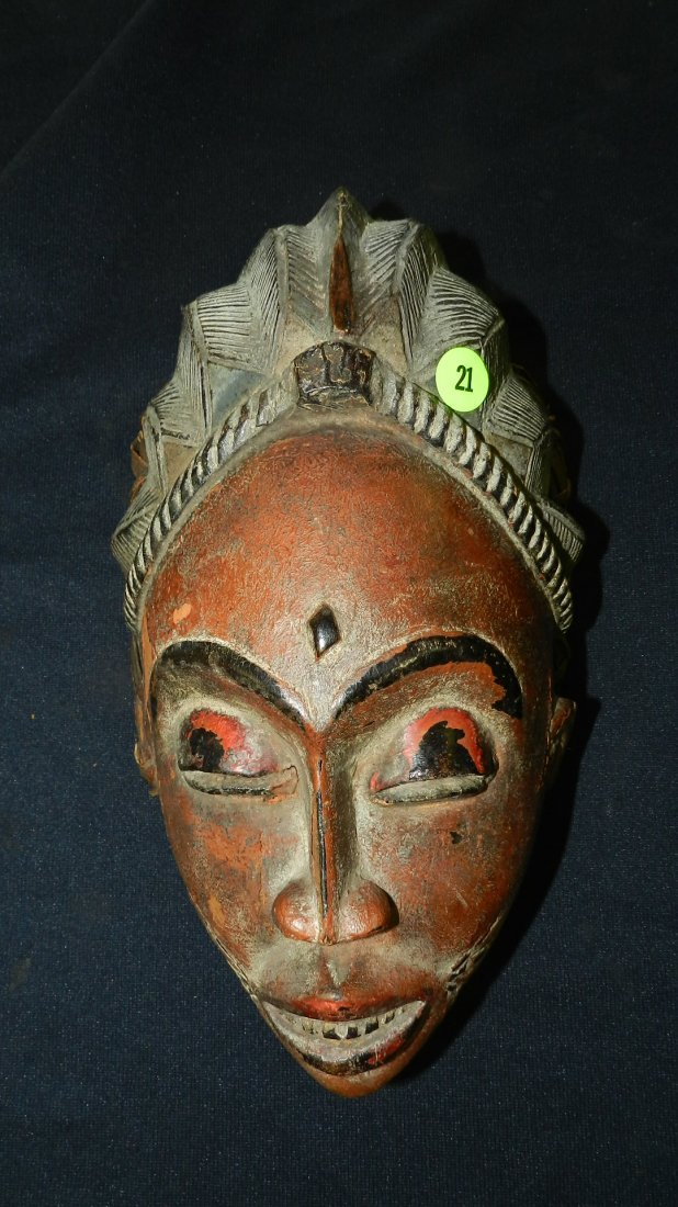 Unique hand carved African? carved mask with original