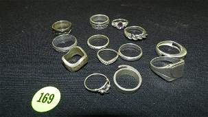 Collection of 13 very nice vintage Sterling silver