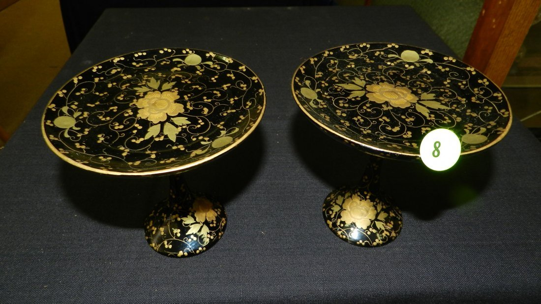 2 piece Russian? Lacquer painted compote (style)