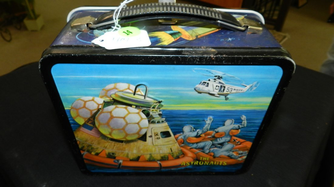 3) vintage 1960's The Astronauts Lunch Box with