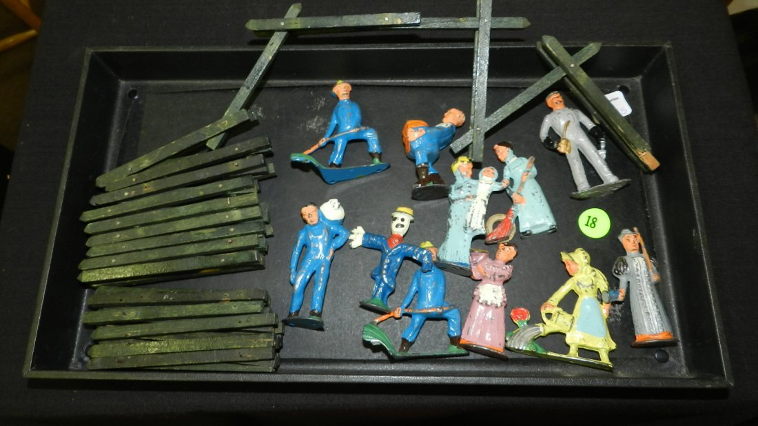 Nice group of kid's vintage painted Lead toy figures,