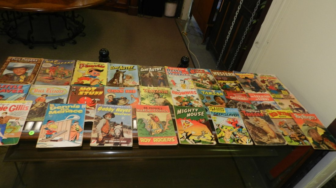 9) collection of vintage comic books, various titles,