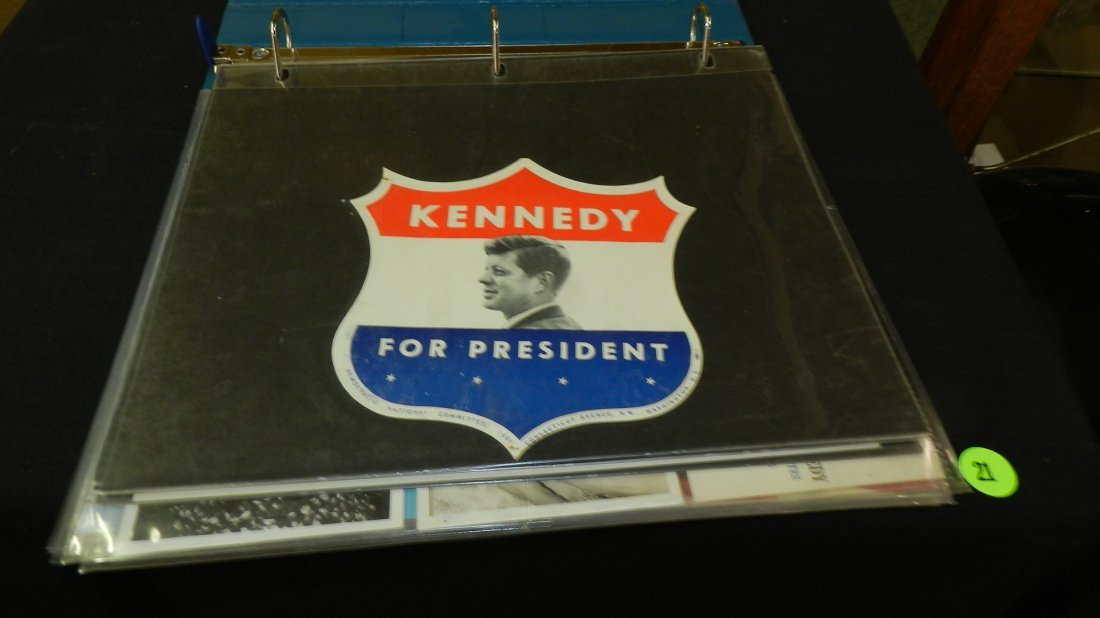 11) album with President Kennedy paper goods /