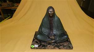 Amazing vintage bronze sculpture by listed artist