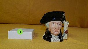 """Royal Doulton Character Jug """"George Washington"""" D6824"""