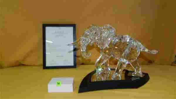 Breathtaking MASSIVE Swarovski crystal elephant 2006,