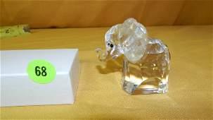 """Nice Swarovski crystal """"Elephant"""" figurine cond VG"""