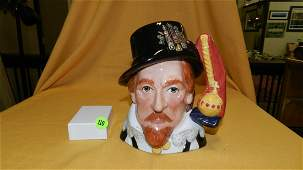 """Nice Royal Doulton large character jug """"King James I"""""""