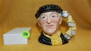 """Royal Doulton character jug """"Pearly King"""" D 6844, cond"""