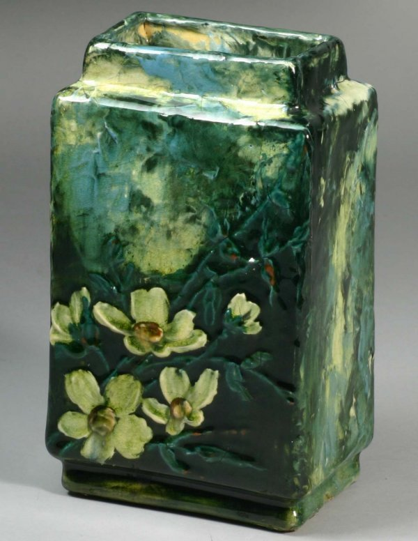 1031: TJ Wheatly Majolica Vase