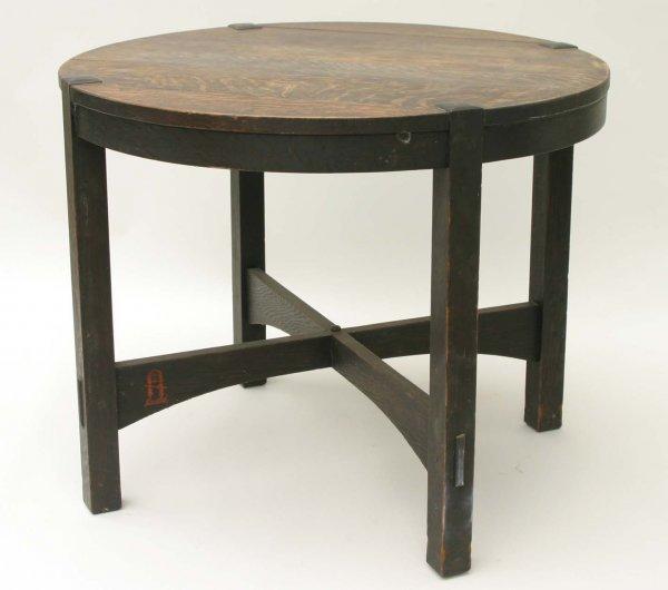 1038: Gustav Stickley Table