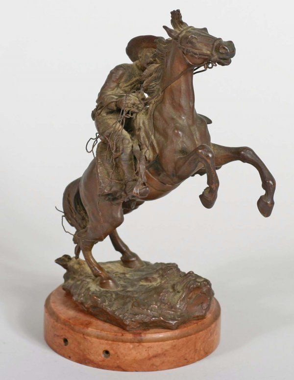 C Kauba Bronze Bucking Horse