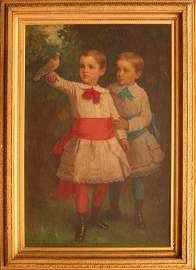 1059: Eastman Johnson Portrait of the Caswell Children