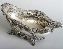 1256D: Ornate Footed Sterling Center Bowl
