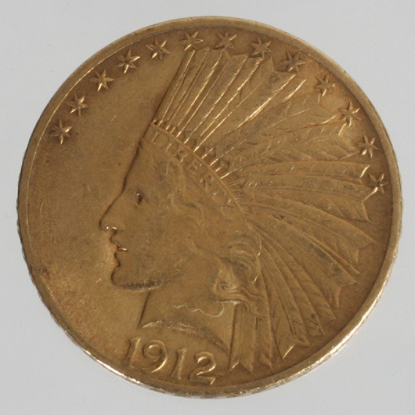 12: 1912 $10 Indian Head Coin