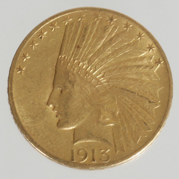 14: 1913 $10 Indian Head Coin