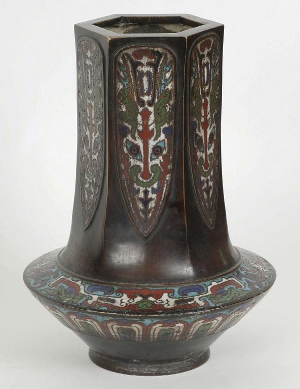 168: Xuande Cloisonne Vase