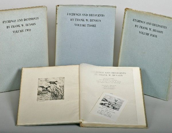 "261: ""Etchings & Drypoints"" Frank W. Benson-4 Vols"